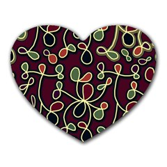 Elegant decorative pattern Heart Mousepads by Valentinaart