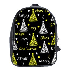 New Year Pattern   Yellow School Bags (xl)  by Valentinaart