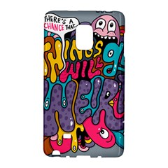 Face Weird Monster Galaxy Note Edge by AnjaniArt