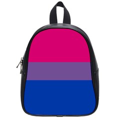 Pink Purple Blue Flag School Bags (small)  by AnjaniArt
