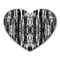 Black White Taditional Pattern  Heart Mousepads by Costasonlineshop