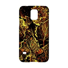 Leaves In Morning Dew,yellow Brown,red, Samsung Galaxy S5 Hardshell Case  by Costasonlineshop