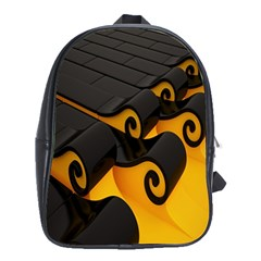 Tsunami Roll Sea Wave School Bags (xl)  by AnjaniArt