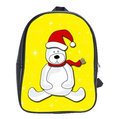 Polar Bear   Yellow School Bags (xl)  by Valentinaart