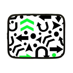 Green right direction  Netbook Case (Small)  by Valentinaart