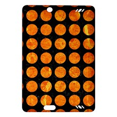 Circles1 Black Marble & Orange Marble Amazon Kindle Fire Hd (2013) Hardshell Case by trendistuff