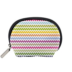 Color Full Chevron Accessory Pouches (small)  by AnjaniArt