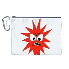 Monster Angry Canvas Cosmetic Bag (l) by AnjaniArt