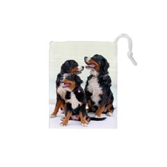 3 Bernese Mountain Dogs Drawstring Pouches (xs)  by TailWags
