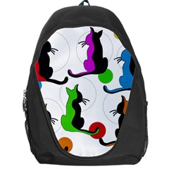 Colorful Abstract Cats Backpack Bag by Valentinaart