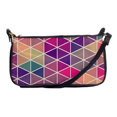 Chevron Colorful Shoulder Clutch Bags by AnjaniArt