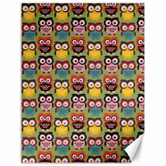 Eye Owl Colorful Cute Animals Bird Copy Canvas 12  X 16   by AnjaniArt