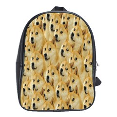 Face Cute Dog School Bags(large)  by AnjaniArt