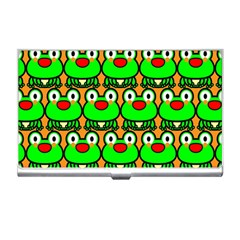 Sitfrog Orange Green Frog Business Card Holders by AnjaniArt
