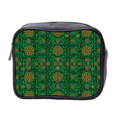 Magic Peacock Night Mini Toiletries Bag 2 Side by pepitasart