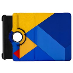 Box Yellow Blue Red Kindle Fire Hd 7  by AnjaniArt