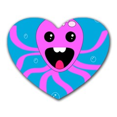 Bubble Octopus Heart Mousepads by AnjaniArt