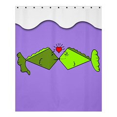 Kissing Fish Shower Curtain 60  X 72  (medium)  by AnjaniArt