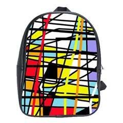 Casual Abstraction School Bags (xl)  by Valentinaart