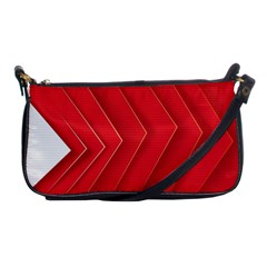Rank Red White Shoulder Clutch Bags by AnjaniArt