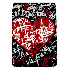 Red Graffiti Style Hart  Flap Covers (l)  by Valentinaart