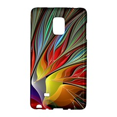 Fractal Bird Of Paradise Samsung Galaxy Note Edge Hardshell Case by WolfepawFractals