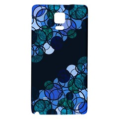 Blue Bubbles Galaxy Note 4 Back Case by Valentinaart