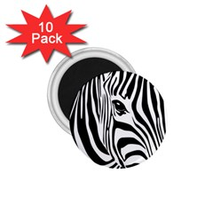 Animal Cute Pattern Art Zebra 1 75  Magnets (10 Pack)