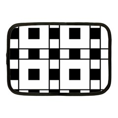 Black And White Pattern Netbook Case (medium)  by Amaryn4rt