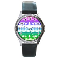 Cute Rainbow Bohemian Round Metal Watch by Brittlevirginclothing