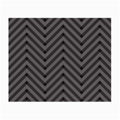 Background Gray Zig Zag Chevron Small Glasses Cloth (2 Side) by AnjaniArt