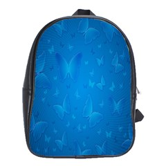 Butterflies Blue Butterfly School Bags (xl)  by AnjaniArt