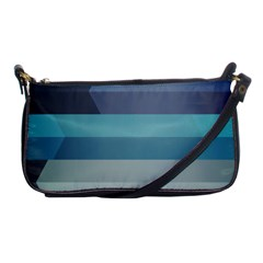 Line Light Stripes Colorful Shoulder Clutch Bags by AnjaniArt