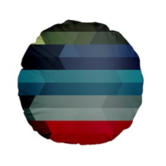 Line Light Stripes Colorful Standard 15  Premium Flano Round Cushions by AnjaniArt