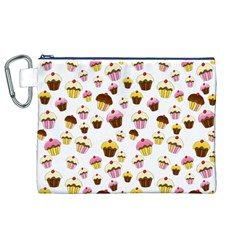 Eat Me Canvas Cosmetic Bag (xl) by Valentinaart