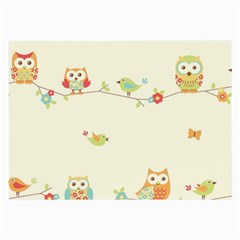 Owl Butterfly Bird Large Glasses Cloth (2 Side) by AnjaniArt