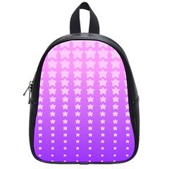 Purple And Pink Stars School Bags (small)  by AnjaniArt