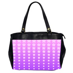 Purple And Pink Stars Office Handbags (2 Sides)  by AnjaniArt