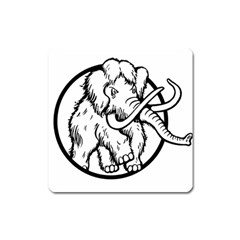Mammoth Elephant Strong Square Magnet