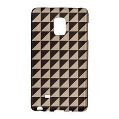 Brown Triangles Background Pattern  Galaxy Note Edge by Amaryn4rt