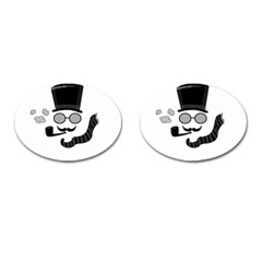 Invisible man Cufflinks (Oval) by Valentinaart