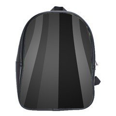 Black Minimalistic Gray Stripes School Bags (xl)  by Jojostore