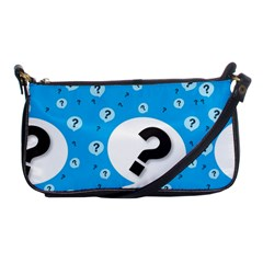 Blue Question Mark Shoulder Clutch Bags by Jojostore