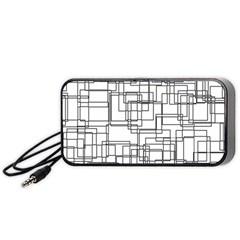 Structure Pattern Network Portable Speaker (black)