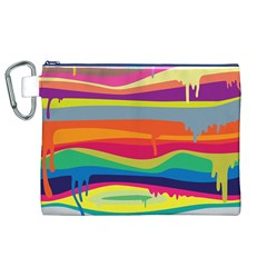 Colorfull Rainbow Canvas Cosmetic Bag (xl) by Jojostore