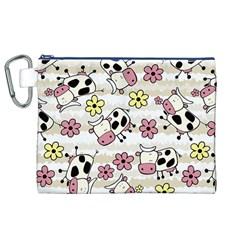 Cow Animals Canvas Cosmetic Bag (xl) by Jojostore