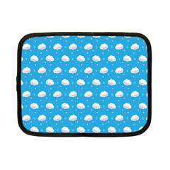 Seamless Fluffy Cloudy And Sky Netbook Case (small)  by Jojostore