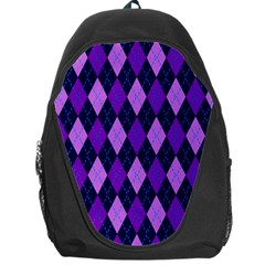 Tumblr Static Argyle Pattern Blue Purple Backpack Bag by Jojostore