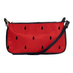 Watermelon Seeds Red Shoulder Clutch Bags by Jojostore