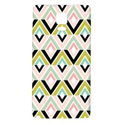 Chevron Pink Green Copy Galaxy Note 4 Back Case by Jojostore